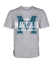 Team MARGOLIS - Lifetime Member V-Neck T-Shirt thumbnail