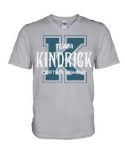 Team KINDRICK - Lifetime Member V-Neck T-Shirt thumbnail