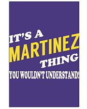 Its a MARTINEZ Thing - Name Shirts Vertical Poster tile