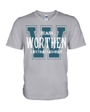 Team WORTHEN - Lifetime Member V-Neck T-Shirt thumbnail