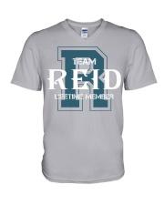 Team REID - Lifetime Member V-Neck T-Shirt thumbnail