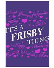 Its a FRISBY Thing - Name Shirts 11x17 Poster thumbnail