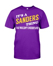 Its a SANDERS Thing - Name Shirts Classic T-Shirt tile