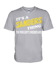 Its a SANDERS Thing - Name Shirts V-Neck T-Shirt tile