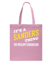 Its a SANDERS Thing - Name Shirts Tote Bag tile