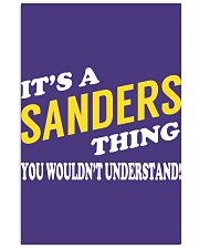 Its a SANDERS Thing - Name Shirts Vertical Poster tile