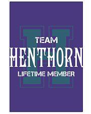 Team HENTHORN - Lifetime Member 11x17 Poster thumbnail