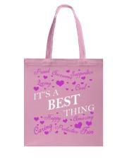 Its a BEST Thing - Name Shirts Tote Bag thumbnail