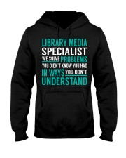 Library Media Specialist Hooded Sweatshirt front