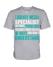 Library Media Specialist V-Neck T-Shirt thumbnail