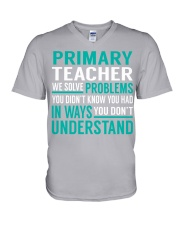 Primary Teacher - Solve Problems Job Shirts V-Neck T-Shirt thumbnail
