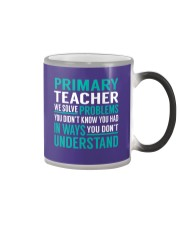 Primary Teacher - Solve Problems Job Shirts Color Changing Mug thumbnail
