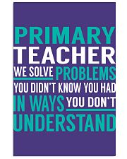 Primary Teacher - Solve Problems Job Shirts 11x17 Poster thumbnail