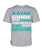 Kayak Guide - Solve Problems Job Shirts V-Neck T-Shirt thumbnail