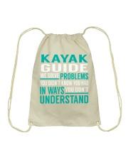 Kayak Guide - Solve Problems Job Shirts Drawstring Bag thumbnail