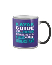 Kayak Guide - Solve Problems Job Shirts Color Changing Mug thumbnail