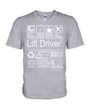 Lift Driver V-Neck T-Shirt thumbnail