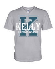 Team KELLY - Lifetime Member V-Neck T-Shirt thumbnail
