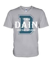 Team DAIN - Lifetime Member V-Neck T-Shirt thumbnail