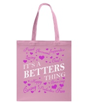 Its a BETTERS Thing - Name Shirts Tote Bag tile