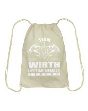 Team WIRTH Lifetime Member - Name Shirts Drawstring Bag thumbnail