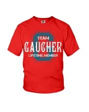 Team GAUCHER - Lifetime Member Youth T-Shirt thumbnail