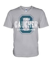 Team GAUCHER - Lifetime Member V-Neck T-Shirt thumbnail