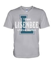 Team LISENBEE - Lifetime Member V-Neck T-Shirt thumbnail