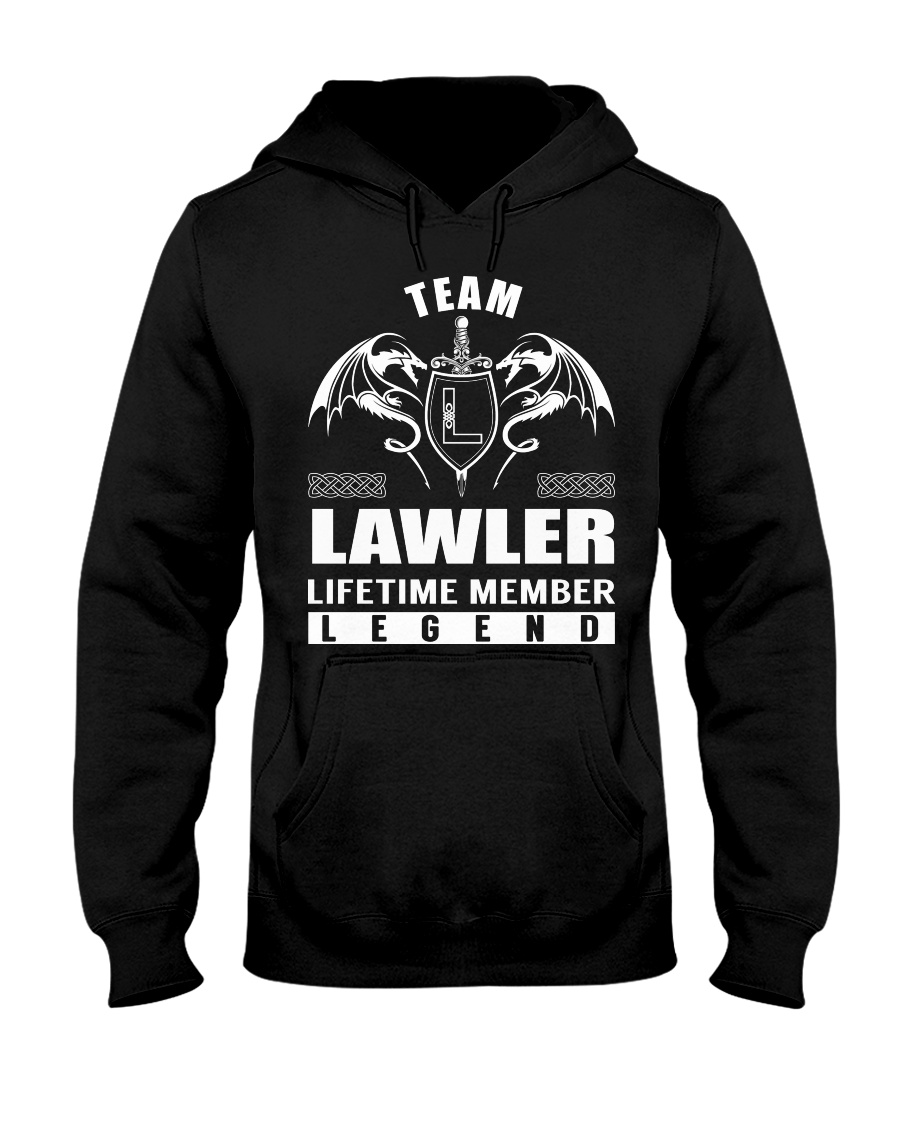 Team LAWLER Lifetime Member - Name Shirts Hooded Sweatshirt
