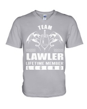 Team LAWLER Lifetime Member - Name Shirts V-Neck T-Shirt thumbnail