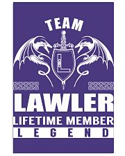 Team LAWLER Lifetime Member - Name Shirts 11x17 Poster thumbnail