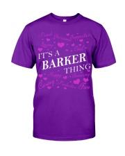 Its a BARKER Thing - Name Shirts Classic T-Shirt thumbnail