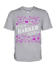 Its a BARKER Thing - Name Shirts V-Neck T-Shirt thumbnail