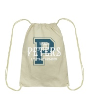 Team PETERS - Lifetime Member Drawstring Bag thumbnail