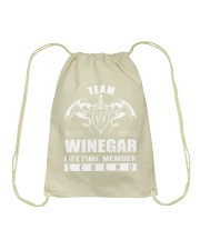 Team WINEGAR Lifetime Member - Name Shirts Drawstring Bag thumbnail