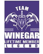 Team WINEGAR Lifetime Member - Name Shirts 11x17 Poster thumbnail