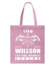 Team WILLSON Lifetime Member - Name Shirts Tote Bag thumbnail