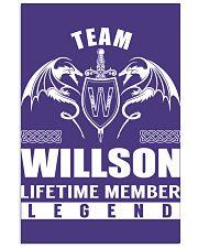 Team WILLSON Lifetime Member - Name Shirts 11x17 Poster thumbnail