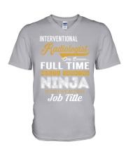 Interventional Radiologist - NINJA Job Title V-Neck T-Shirt thumbnail