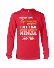 Interventional Radiologist - NINJA Job Title Long Sleeve Tee thumbnail