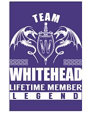 Team WHITEHEAD Lifetime Member - Name Shirts Vertical Poster tile