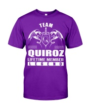 Team QUIROZ Lifetime Member - Name Shirts Classic T-Shirt thumbnail