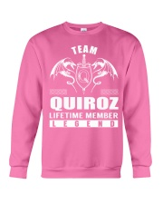 Team QUIROZ Lifetime Member - Name Shirts Crewneck Sweatshirt thumbnail