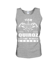 Team QUIROZ Lifetime Member - Name Shirts Unisex Tank thumbnail