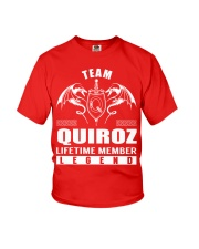 Team QUIROZ Lifetime Member - Name Shirts Youth T-Shirt thumbnail