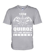 Team QUIROZ Lifetime Member - Name Shirts V-Neck T-Shirt thumbnail