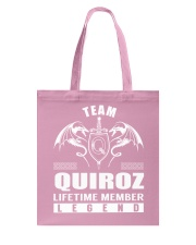 Team QUIROZ Lifetime Member - Name Shirts Tote Bag thumbnail
