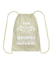 Team QUIROZ Lifetime Member - Name Shirts Drawstring Bag thumbnail