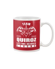 Team QUIROZ Lifetime Member - Name Shirts Mug thumbnail
