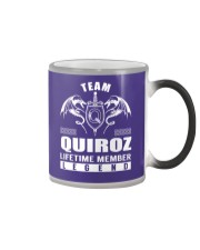 Team QUIROZ Lifetime Member - Name Shirts Color Changing Mug thumbnail
